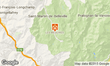 Map Les Menuires One-room apartment 27183