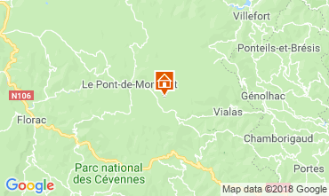 Map Mont Lozère House 117356