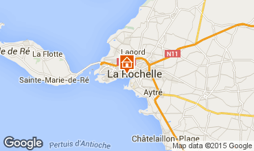 Map La Rochelle Vacation rental 75124