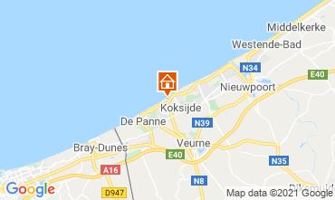 Map Koksijde Apartment 9565