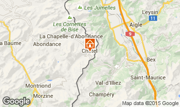 Map Châtel Apartment 805