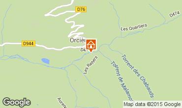 Map Orcières Merlette Vacation rental 74210