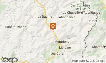 Map Saint Jean d'Aulps- La Grande Terche One-room apartment 2513