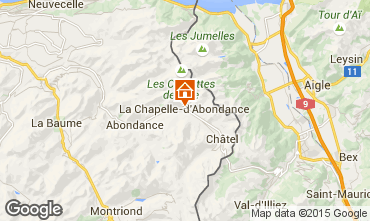Map La Chapelle d'Abondance Apartment 66705
