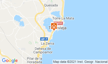 Map Torrevieja One-room apartment 78589