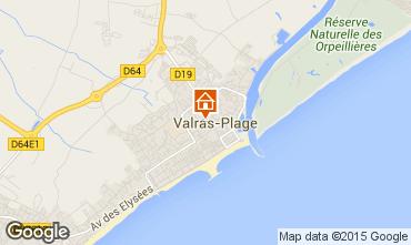 Map Valras-Plage Apartment 97095