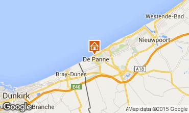 Map De Panne Apartment 98739