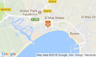 Map Rosas Apartment 115190
