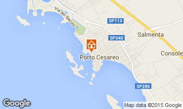 Map Porto Cesareo Apartment 55081
