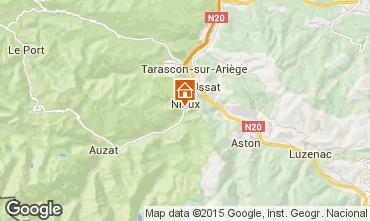 Map Ussat les Bains Vacation rental 3918