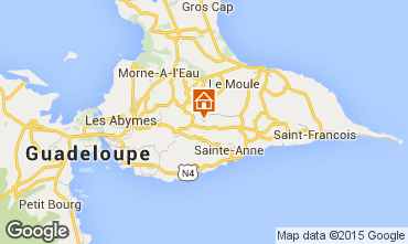 Map Sainte Anne (Guadeloupe) Vacation rental 8024