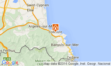 Map Collioure Apartment 102973