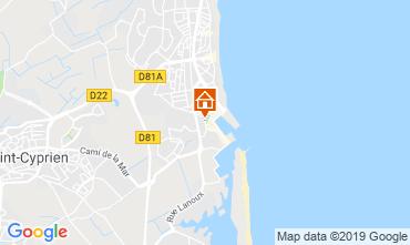 Map Saint Cyprien Plage Villa 119532