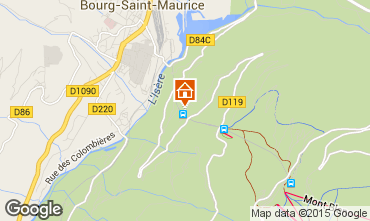Map Les Arcs Apartment 197