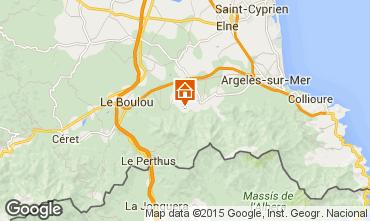 Map Argeles sur Mer Villa 39076