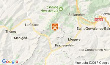 Map La Giettaz en Aravis Apartment 107658
