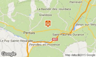 Map La Tour d'Aigues Apartment 71471