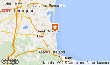 Map Saint Cyprien Plage Apartment 8729