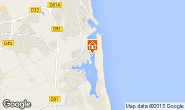 Map Saint Cyprien Plage Apartment 8729