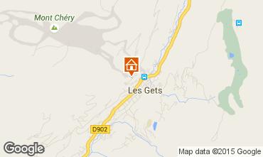 Map Les Gets Chalet 1350