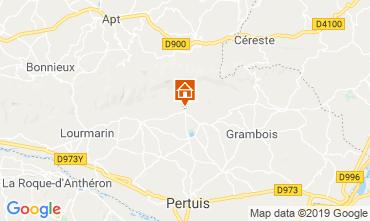 Map Lourmarin Vacation rental 119717