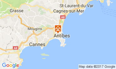 Map Antibes Apartment 107906