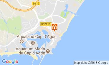Map Cap d'Agde Apartment 112976