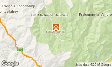 Map Les Menuires Apartment 1765