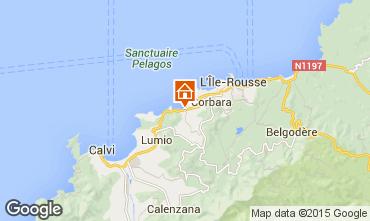 Map Algajola Apartment 86904