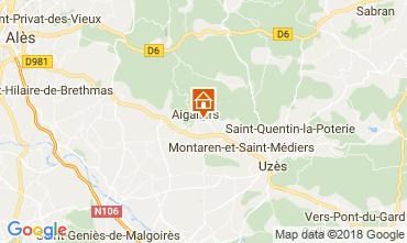 Map Uzès Vacation rental 68063