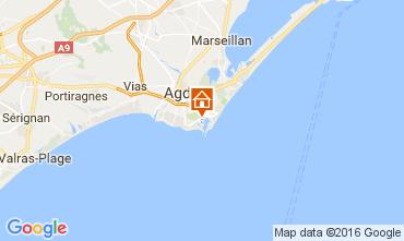 Map Cap d'Agde One-room apartment 107212