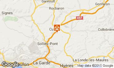 Map Hyères Villa 16069