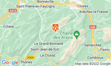 Map Le Grand Bornand Apartment 76154