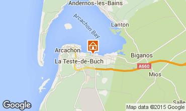Map Arcachon Chalet 93525
