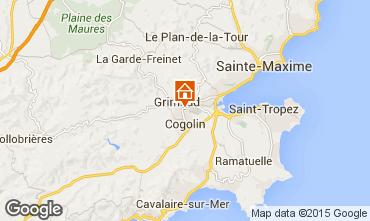 Map Saint Tropez Villa 72525