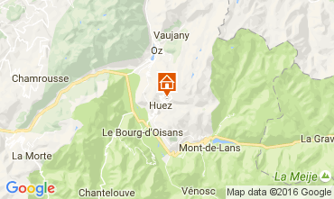 Map Alpe d'Huez One-room apartment 107357