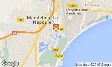 Map Mandelieu la Napoule One-room apartment 65092