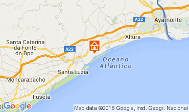 Map Cabanas de Tavira Apartment 86261