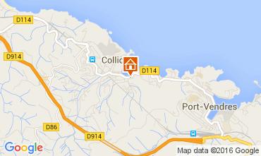 Map Collioure Apartment 105782