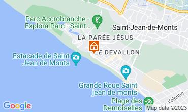 Map Saint Jean de Monts One-room apartment 79404