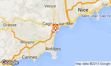 Map Villeneuve-Loubet One-room apartment 88589