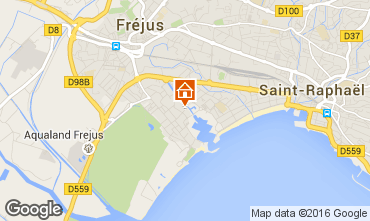 Map Fréjus Apartment 102521