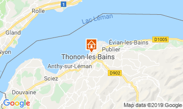 Map Thonon Les Bains Apartment 115294