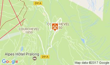 Map Courchevel Apartment 110053