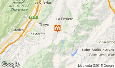 Map Les Sept Laux One-room apartment 89817