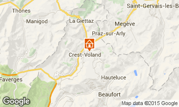 Map Crest Voland Cohennoz Apartment 37613