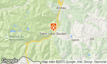Map Saint Lary Soulan One-room apartment 4468