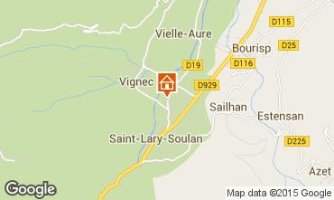Map Saint Lary Soulan One-room apartment 4468