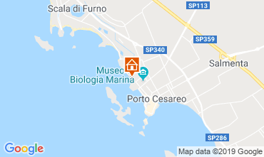 Map Porto Cesareo Apartment 86647