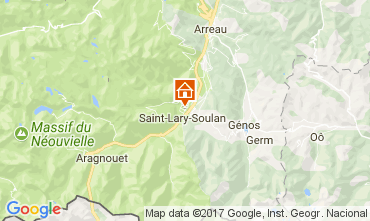 Map Saint Lary Soulan Apartment 111594